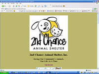 2nd Chance Animal Shelter Website